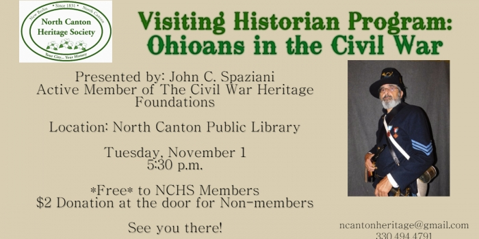 Save the Date! November 1, 2016 Visiting Historian Program