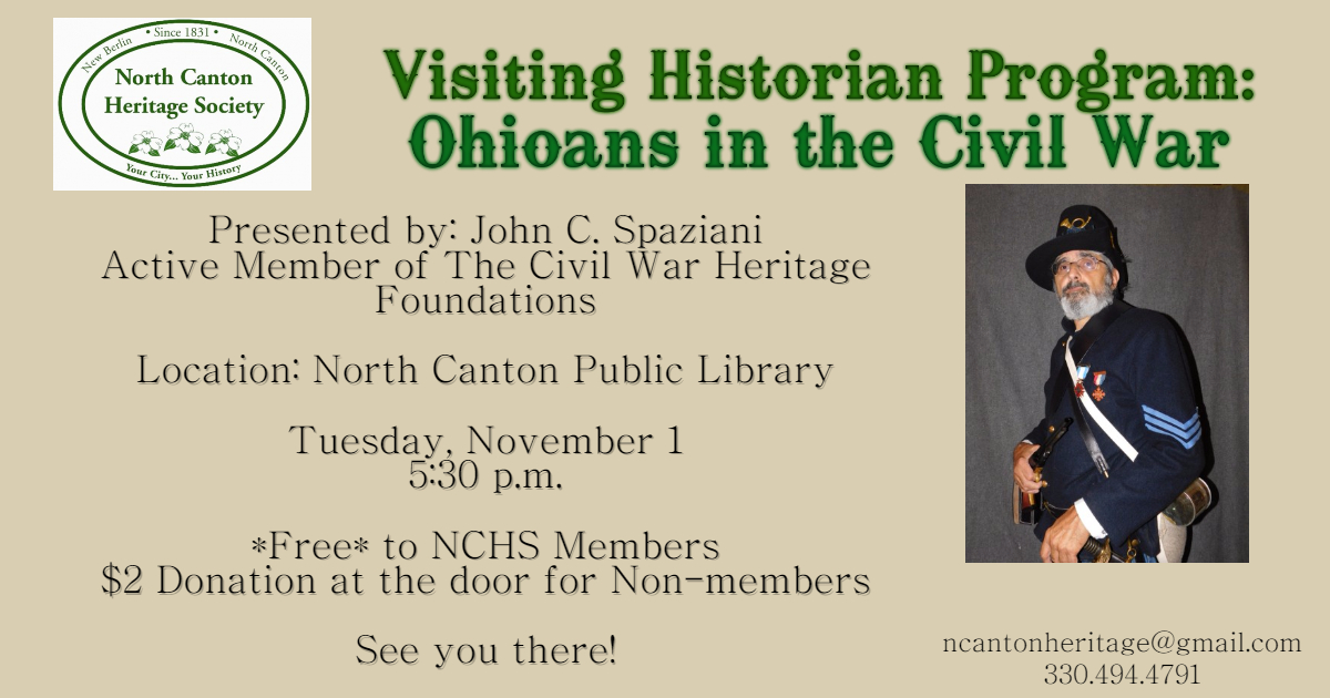 Thumbnail for the post titled: Save the Date! November 1, 2016 Visiting Historian Program