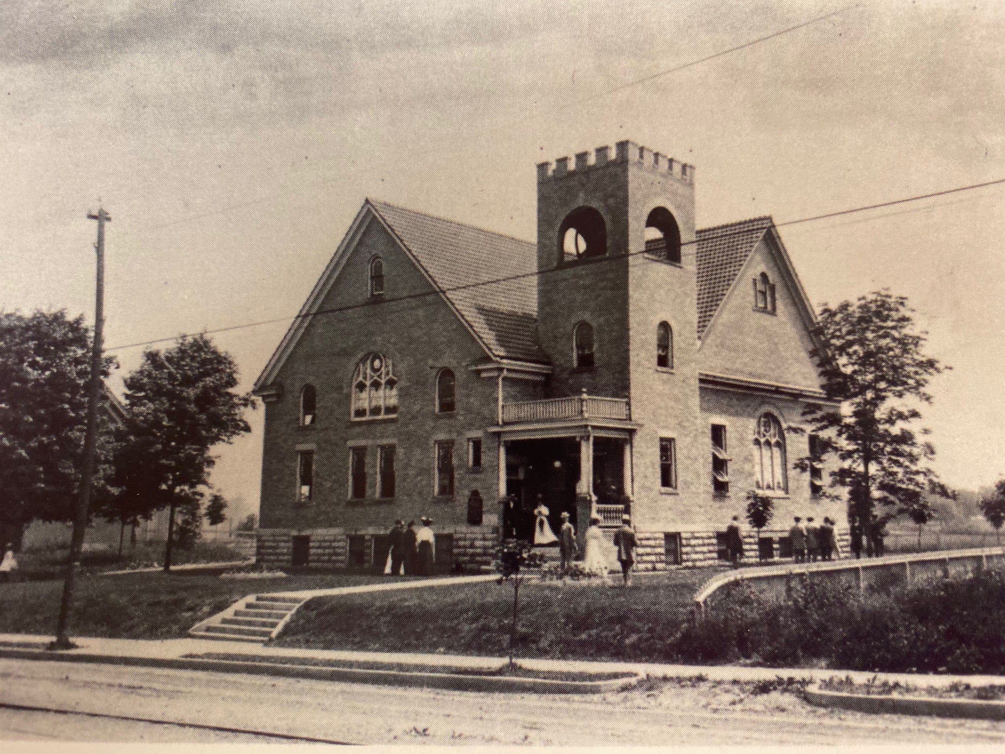 Early Community Christian Church Postcard